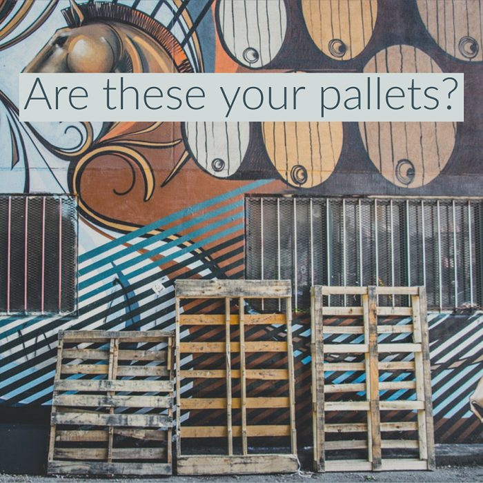 Are you paying for pallets you don't have?